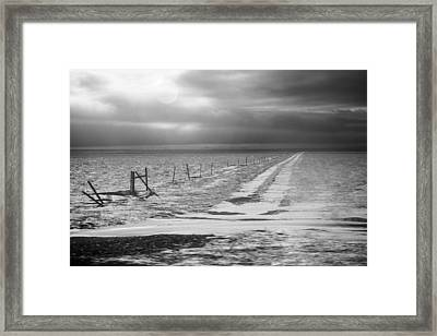 Lonely Montana Road Framed Print by Paul Bartoszek