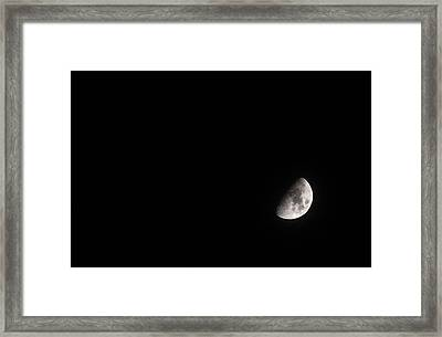 Lonely Moon Framed Print by Jennifer Ancker