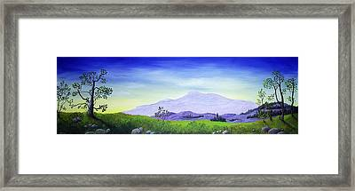 Lonely Mountain Framed Print by Anastasiya Malakhova