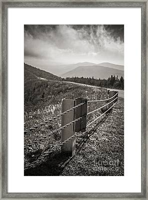 Lonely Mountain Road Framed Print by Edward Fielding