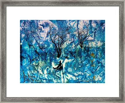 Framed Print featuring the painting Lonely Night by Ron Richard Baviello