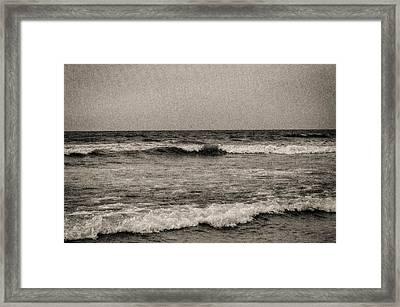 Lonely Ocean Framed Print by J Riley Johnson