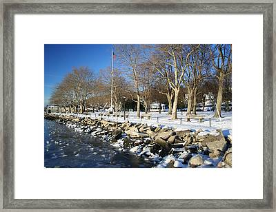 Lonely Park Framed Print