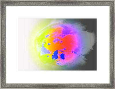 I Am The Most Lonely Planet You Have Ever Seen  Framed Print by Hilde Widerberg