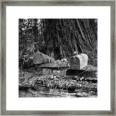 Lonely Post Framed Print