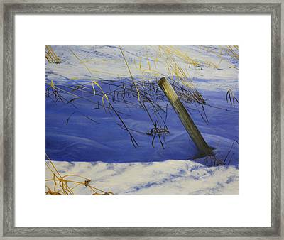 Lonely Relic Framed Print