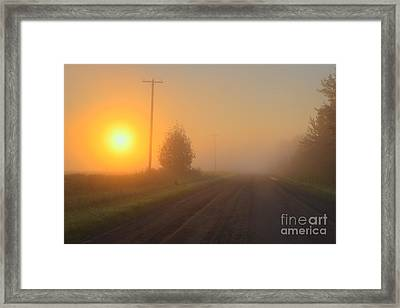Lonely Road Framed Print by Dan Jurak