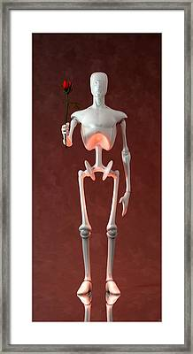 Framed Print featuring the digital art Lonely Robot... by Tim Fillingim