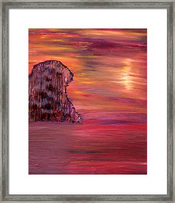 Lonely Rock Framed Print by Vadim Levin