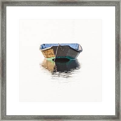 Lonely Row Boat Square Version Framed Print