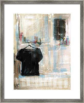 Lonely Shirt Framed Print by Russell Pierce