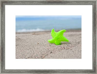 Lonely Starfish  Framed Print by Sofia Walker
