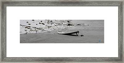 Framed Print featuring the photograph Lonely Surfboard by Chris Thomas