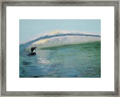 Lonely Surfer Framed Print