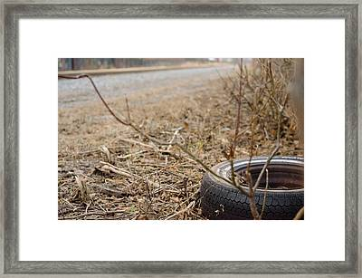 Lonely Tire Framed Print
