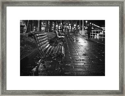Lonely Under The Rain Framed Print by Unai Ileana