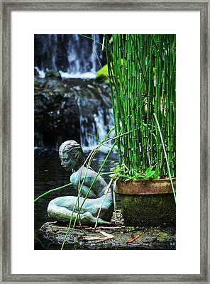 Framed Print featuring the photograph Lonely Water Pixie by Amanda Vouglas