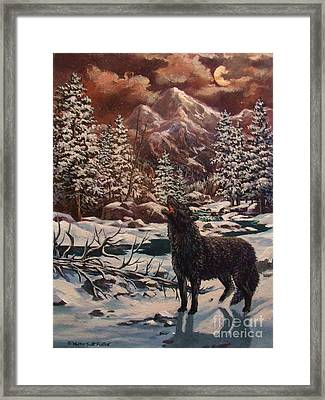 Loner Framed Print by W  Scott Fenton
