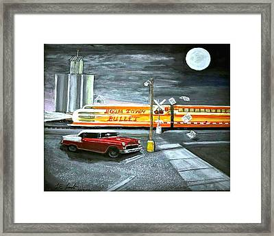 Lonesome Crossing  Framed Print