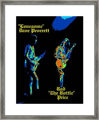 Lonesome Dave And Bottle Rod Framed Print