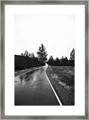 Lonesome Highway No. 2 Framed Print by Lennie Green