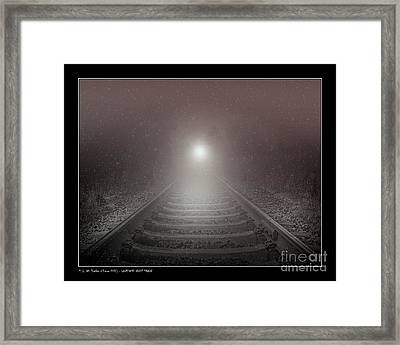 Lonesome Night Train Framed Print by Pedro L Gili
