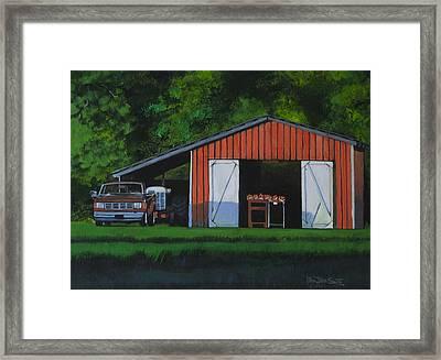 Lonesome Road Satsumas Framed Print by Ben Bensen III