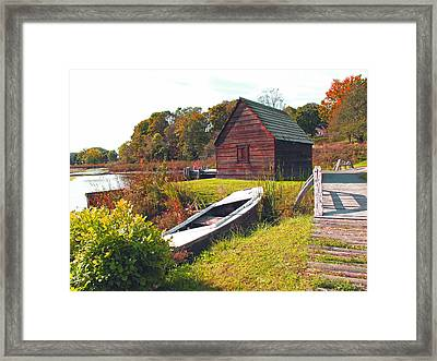 Long Ago Along The Marsh Framed Print by Barbara McDevitt