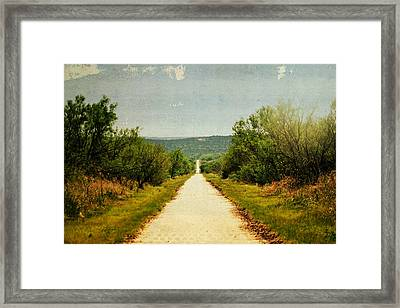 Long And Lonely Road Framed Print by Mikki Cromer