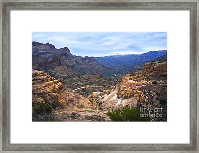 Long And Winding Apache Trail Framed Print by Lee Craig