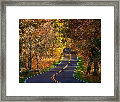 Long And Winding Road Framed Print by Kathi Isserman