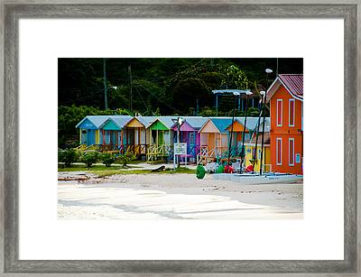 Long Bay Beach Shops Framed Print