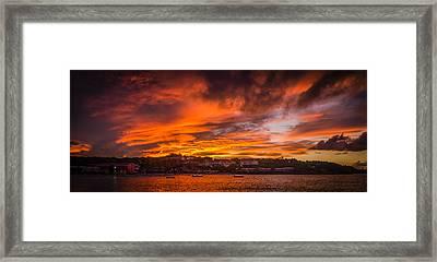 Long Bay Sunset Framed Print