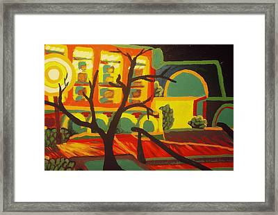 Long Beach Apartment Nightscape Framed Print