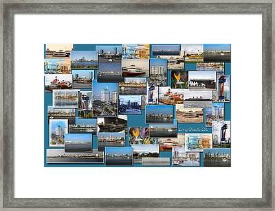 Long Beach Ca Collage Framed Print by Thomas Woolworth