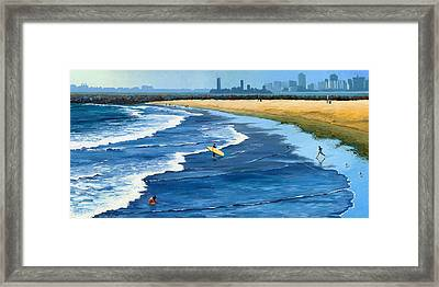 Long Beach California Framed Print by Alice Leggett
