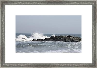 Framed Print featuring the photograph Long Beach Jetty by John Telfer