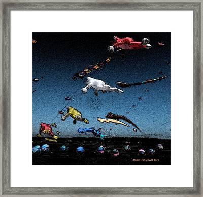 Long Beach Kites 2012 Framed Print