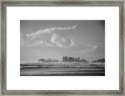 Long Beach Landscape  Framed Print by Roxy Hurtubise