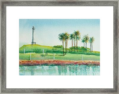 Long Beach Lighthouse Framed Print by Debbie Lewis