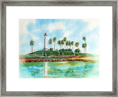 Long Beach Lighthouse  Version 2 Framed Print by Debbie Lewis