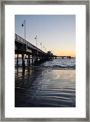 Framed Print featuring the photograph Long Beach Pier by Kyle Hanson