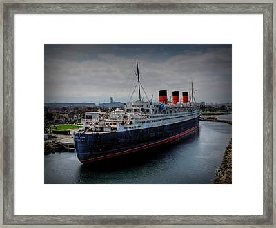 Long Beach - The Queen Mary Framed Print by Lance Vaughn