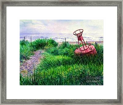 Long Beached Buoy Framed Print