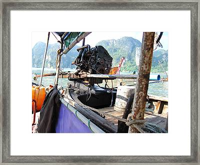 Long Boat Tour - Phi Phi Island - 01131 Framed Print by DC Photographer