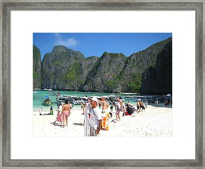 Long Boat Tour - Phi Phi Island - 0113113 Framed Print by DC Photographer