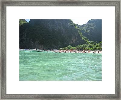 Long Boat Tour - Phi Phi Island - 0113118 Framed Print