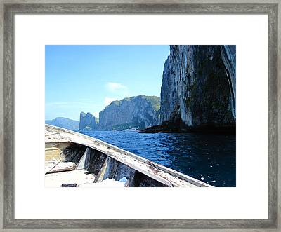Long Boat Tour - Phi Phi Island - 0113125 Framed Print by DC Photographer