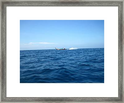 Long Boat Tour - Phi Phi Island - 0113132 Framed Print by DC Photographer