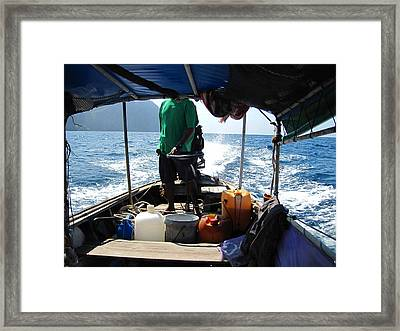 Long Boat Tour - Phi Phi Island - 0113133 Framed Print by DC Photographer